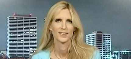 Ann Coulter on Fox News, 09/15/09. (image: Fox)