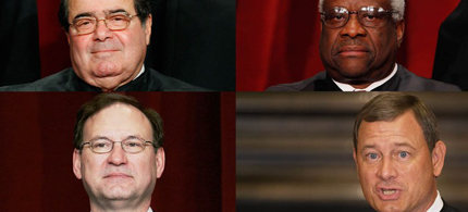 Scalia, Thomas, Roberts and Alito. (photo: Getty Images)