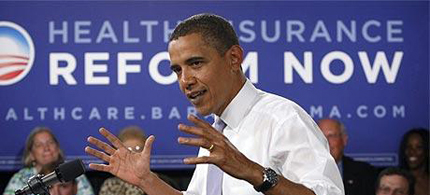 President Barack Obama speaking on healthcare. (photo: AP)