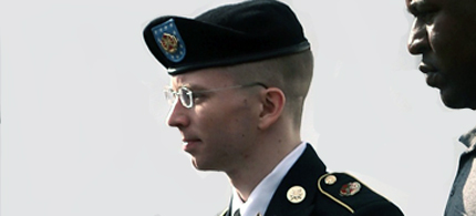 Bradley Manning is escorted from the courtroom.  (photo: Scott Galindez/RSN)