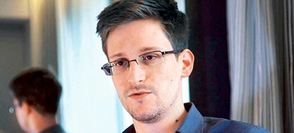 Edward Snowden has been nominated for the Nobel Peace Prize. (photo: Guardian UK)