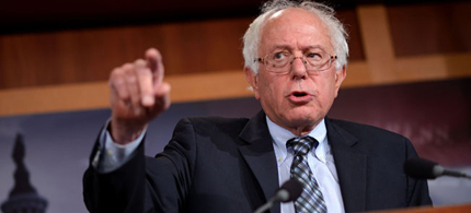 The American people are saying no to war according to Sen. Bernie Sanders. (photo: Kevin Dietsch/UPI)