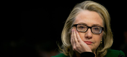 Former Secretary of State Hillary Clinton testifying on Capital Hill. (photo: Getty Images), From ImagesAttr