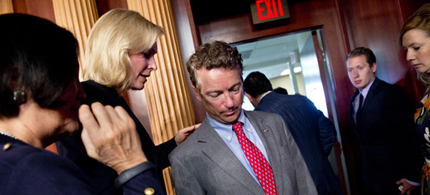Rand Paul has opened deep divisions in the GOP. (photo: Getty Images)