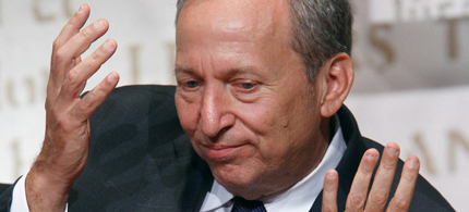 Larry Summers, the president's presumptive choice for Federal Reserve chair, withdrew his name from consideration on Sunday. (photo: Reuters)