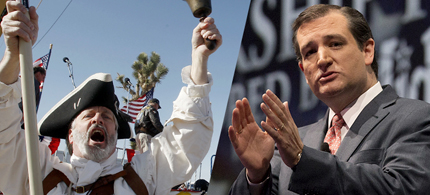 The Tea Party and politicians like Ted Cruz could kill the Republican Party. (photo: Isaac Brekken/AP)
