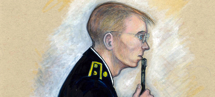 Chelsea Manning has officially filed for a pardon. (art: K. Rudin/RSN)