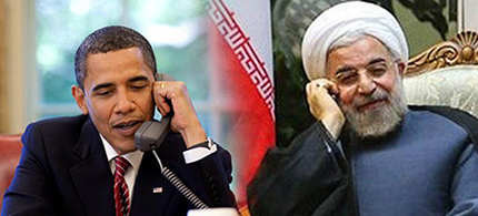 President Obama spoke on the phone with Iranian President Hassan Rouhani, marking the first direct contact between a U.S. and Iranian president since 1979. (photo: TIME)