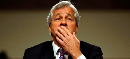 Was Jamie Dimon holding back a laugh? (photo: Getty Images)