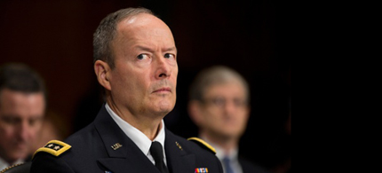 NSA Director General Keith Alexander earlier this month. (photo: Evan Vucci/AP)