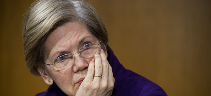 Sen. Elizabeth Warren listens to testimony. (photo: Getty Images)