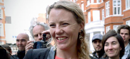 Sarah Harrison who helped Edward Snowden find refuge in Russia is now in Germany. (photo: Reuters)
