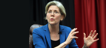 Sen. Elizabeth Warren. (photo: The Boston Herald)
