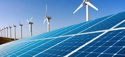 Wind and solar energy are among the renewable options that could power the world. (photo: Shutterstock)