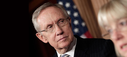 Senate Majority Leader Harry Reid and Democrats will force a vote on extending unemployment benefits. (photo: Getty Images)