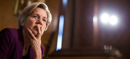 U.S. Sen. Elizabeth Warren (D-MA) listens to testimony from witnesses during a Senate Banking, Housing and Urban Affairs Committee hearing. (photo: Drew Angerer/Getty Images)