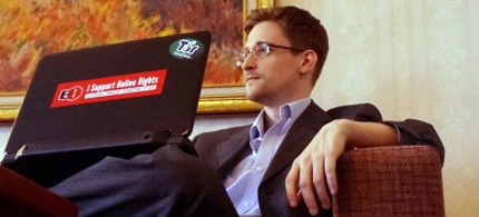 Edward Snowden in Moscow. (photo: Barton Gellman/WP)