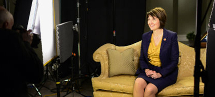 Cathy McMorris Rogers was not nutty, but I believe she was attempting to sell me a dinette set. (photo: Melina Mara/WP)