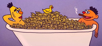 Sirota: 'In PBS's current iteration of the scheme, private special-interest money is now financing prepackaged news reports.' (illustration: Hallie Bateman)