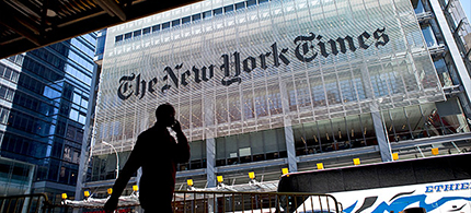 The New York Times building. (photo: Ramin Talaie/Getty Images)