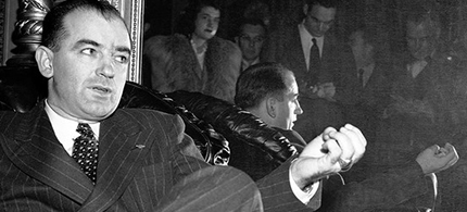 Sen. Joe McCarthy makes a point, circa 1950. (photo: Corbis)