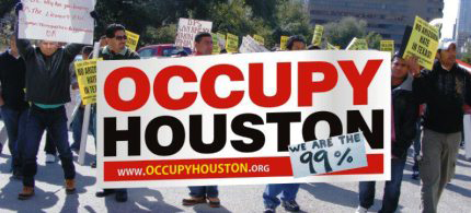 The FBI ignored a plot to assassinate Occupy Houston leaders. (photo: Occupy Houston)