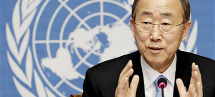 UN Secretary General Ban Ki-moon. (photo: Reuters)