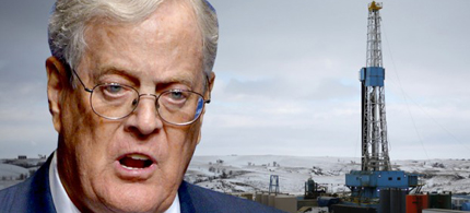 David Koch. (photo collage: Salon)