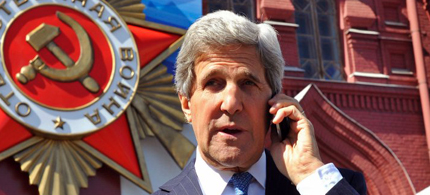 John Kerry said the US listened in on Russian calls to its spies in Ukraine. (photo: Landov)