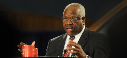 Supreme Court Justice Clarence Thomas. (photo: AP)