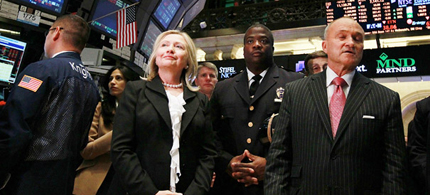 Clinton was New York's senator for eight years, where Wall Street was a key constituency. (photo: Getty Images)