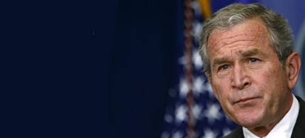 President George W. Bush holds a news conference in the briefing room of the White House in Washington, July 15, 2008. (photo: Kevin Lamarque/Reuters)