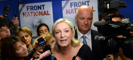 French prime minister Manuel Valls called the breakthrough by Marine Le Pen's anti-immigration, anti-Euro Front National in one of the EU's founding nations a political