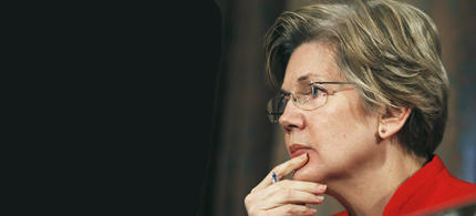 Many conservatives agree with Elizabeth Warren. The system is rigged. (photo: Reuters)