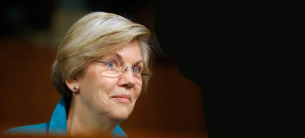 Elizabeth Warren celebrated the one year anniversary of the consumer protection agency she created. (photo: AP)