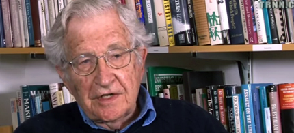Prof. Noam Chomsky, linguist, philosopher, cognitive scientist and activist. (photo: The Real News Network)
