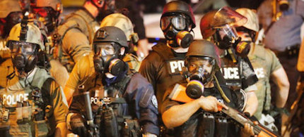 Police in Ferguson. (photo: Getty Images)