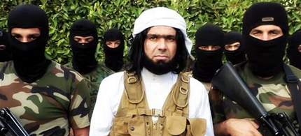Shakir Wahiyib with other ISIS fighters. (photo: Reuters)