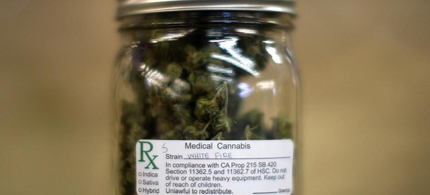 A jar of medical marijuana is displayed at the California Heritage Market in Los Angeles. (photo: David McNew/Reuters)
