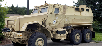 School districts are being given armored vehicles. (photo: AP)