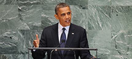 President Obama addresses the United Nations. (photo: AP)