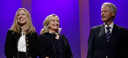 The Clinton family. (photo: Craig Ruttle/AP)
