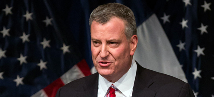 Mayor Bill de Blasio of New York City. (photo: Richard Perry/NYT)