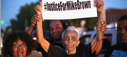 Will the Michael Brown protests influence voters this November? (photo: Whitney Curtis/Getty Images)
