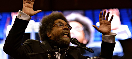 Cornel West speaking in St. Louis. (photo: James Cooper/Demotix/Corbis)