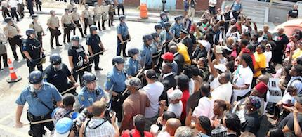 Riots broke out in Ferguson this week after a grand jury decided not to indict Darren Wilson. (photo: unknown)