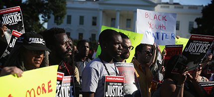 Ferguson activists meet with President Obama to demand an end to police brutality nationwide. (photo: FergusonAction.com)