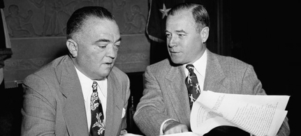Former FBI Director J Edgar Hoover (left) is said to have approved of the Nazi recruitment practice. (photo: AP)
