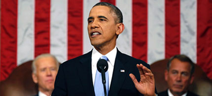 The 2014 State of the Union address. (photo: Larry Downing/AP)
