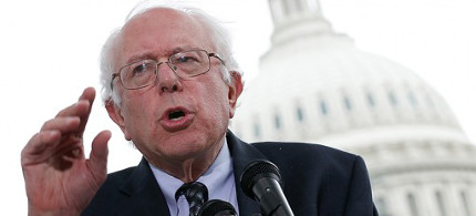 Senator Bernie Sanders addresses audience. (photo: Win McNamee/Getty Images)